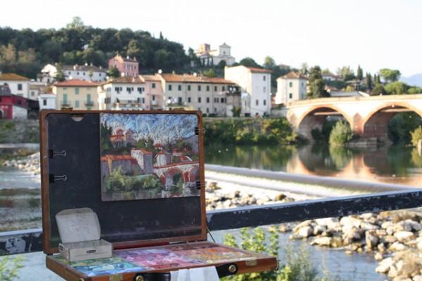painting Ponte S. Quirico