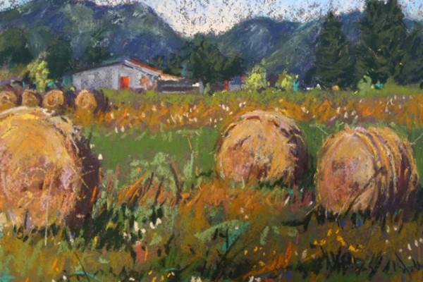 (Sold) S.Alessio hay bales -- Pastel